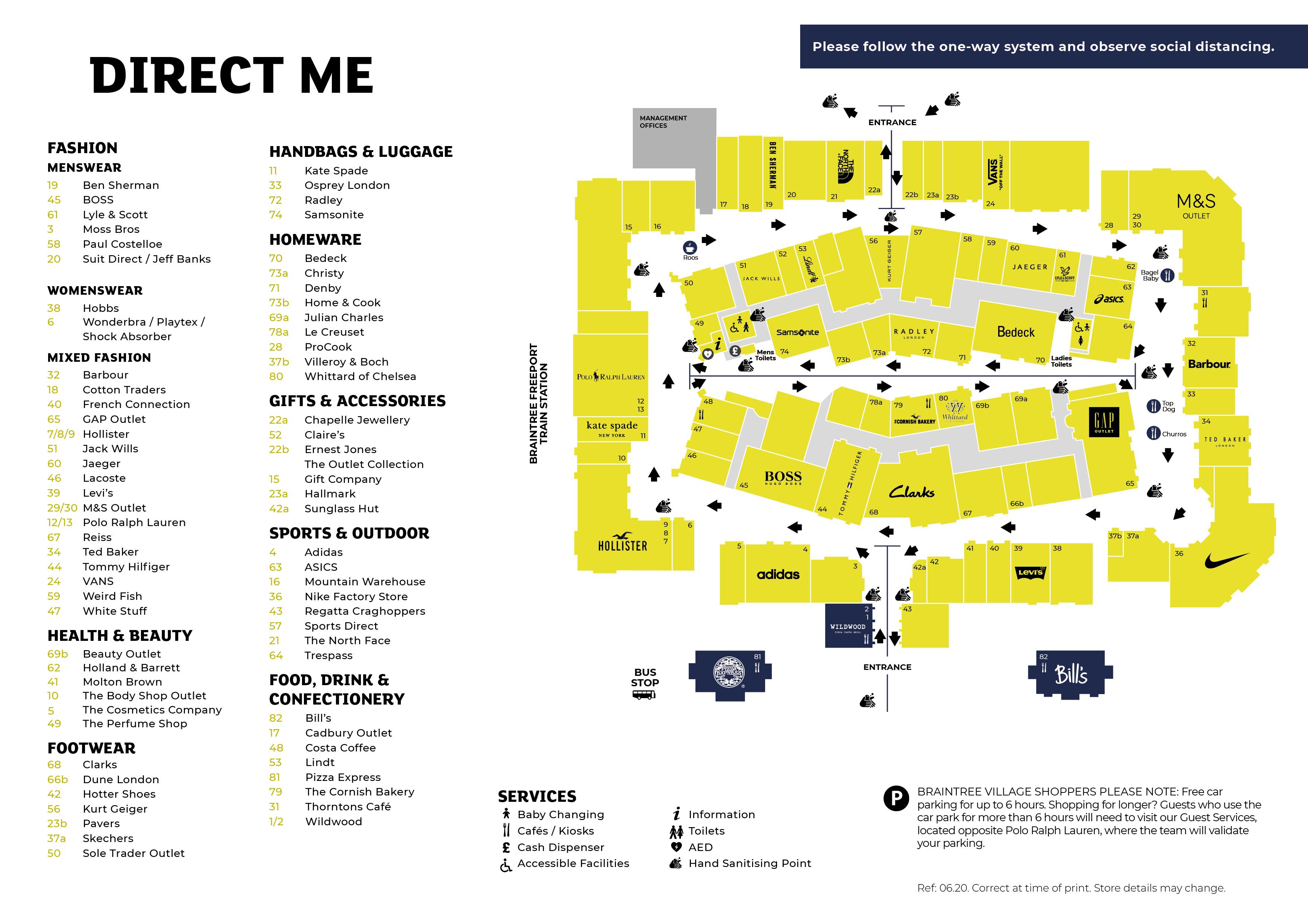 Braintree Village Centre Map